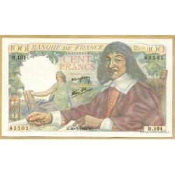 100 Francs Descartes 20-7-1944 R.104