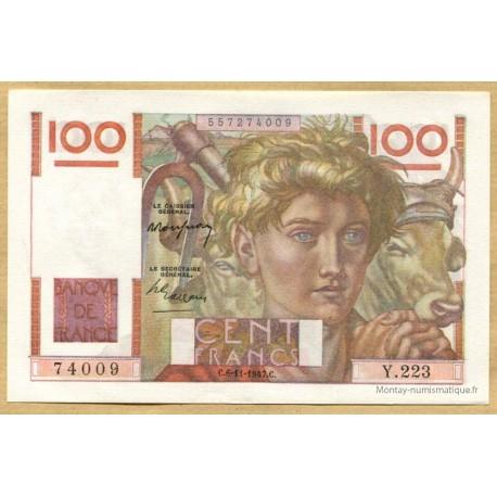 100 Francs Paysan 6-11-1947 Y.223