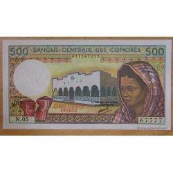 Les Comores - 500 Francs 1994 Banque Centrale des Comores