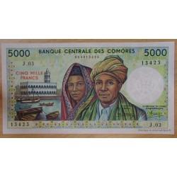 Les Comores - 5000 Francs 1984 Banque Centrale des Comores