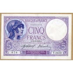 5 Francs Violet 30-8-1918