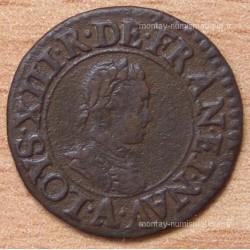 Louis XIII Denier Tournois 1615 A Paris