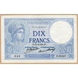 10 Francs Minerve 15-10-1931 R.60567