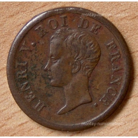 1/2 Franc Henri V 1833 bronze