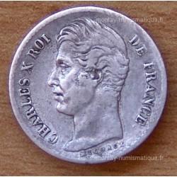 1/4 de Franc Charles X 1829 BB Strasbourg