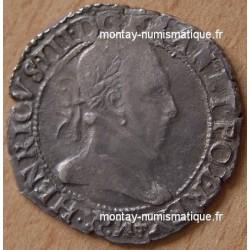 Henri III Demi Franc Col plat 1589 Dijon