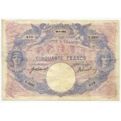 50 Francs bleu et rose 20-8-1914 V.5581
