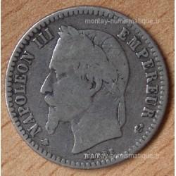 50 CENT. Napoléon III tête laurée 1864 A Paris