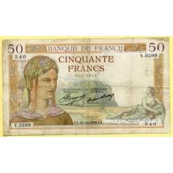 50 Francs Cérès 31-10-1935 Y.3299