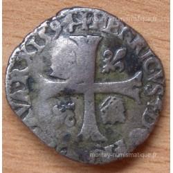 Henri IV Douzain aux 2 H 1594 L Bayonne, type II Contremarqué