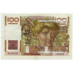 100 Francs Paysan 12-10-1950 A.374